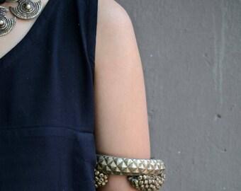 Tribal Bangle Rajasthani gypsy hinge bracelet vintage Indian bell cluster anklet Banjara