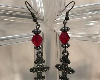 Cross Earring Set