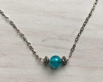 Tide  handmade anklet, ankle bracelet, jewelry, blue, summer, gift