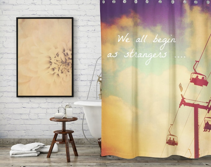 Summer Nights Inspirational Quote Shower Curtain for Boho Bathroom Decor