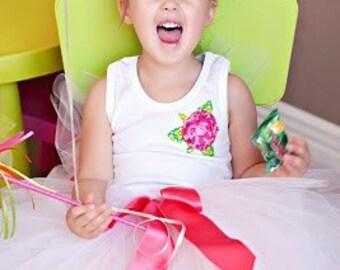 Spring 2010 ... Pink and Green Rosette Shirt ... birthday shirt