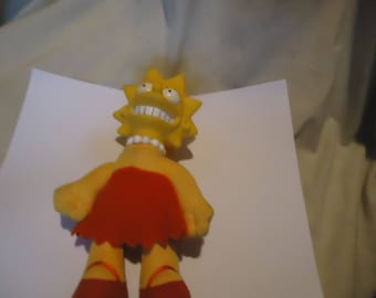 """Vintage 1990 Lisa Simpson 8"""" Doll with Matt Groening On Tag,  collectable"""