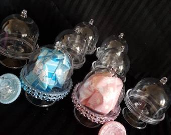 6 Clear Plastic Mini Dome Cake plate stands/ mini cupcake stand/party/Thank & Mini plate stand | Etsy