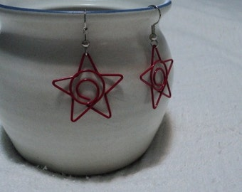 Red Star earrings or white or blue