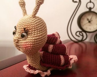 Amigurumi crohet kawai snail