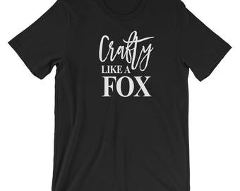 Crafty Fox Tshirt, Crafting Shirt, Crafter Gift, Gift for Crafter, Craft Tee