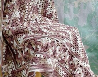 Knit blanket Granny square blanket Boho Blanket Crochet Baby Blanket Gypsy blanket Hippie blanket Baby Blanket Baby shower Home decor