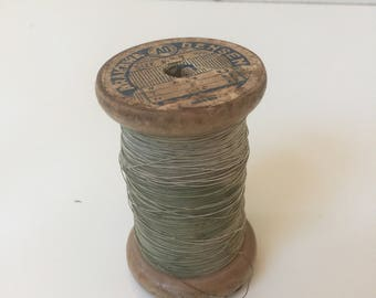 Vintage Spool of Coated Copper Wire Arakawa Densen