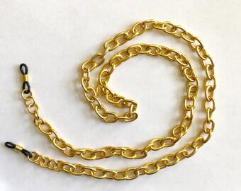 The mattie gold tone light weight aluminum chunky eyeglass holder
