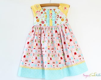 SALE Girl's Let's Cook Dress, Ready to Ship