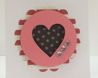 Mini Valentines Cards, Premade Valentines Cards, Handmade Valentines Card, Handmade Love Cards, Pre-made Valentines Cards, Wedding Card