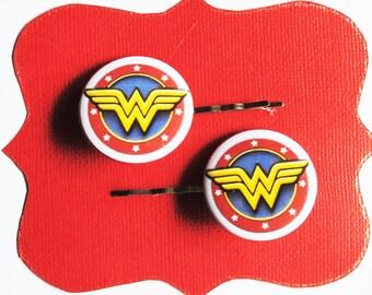 Wonder Woman Superhero Bobby Pins - Hair Pins Justice League Costume