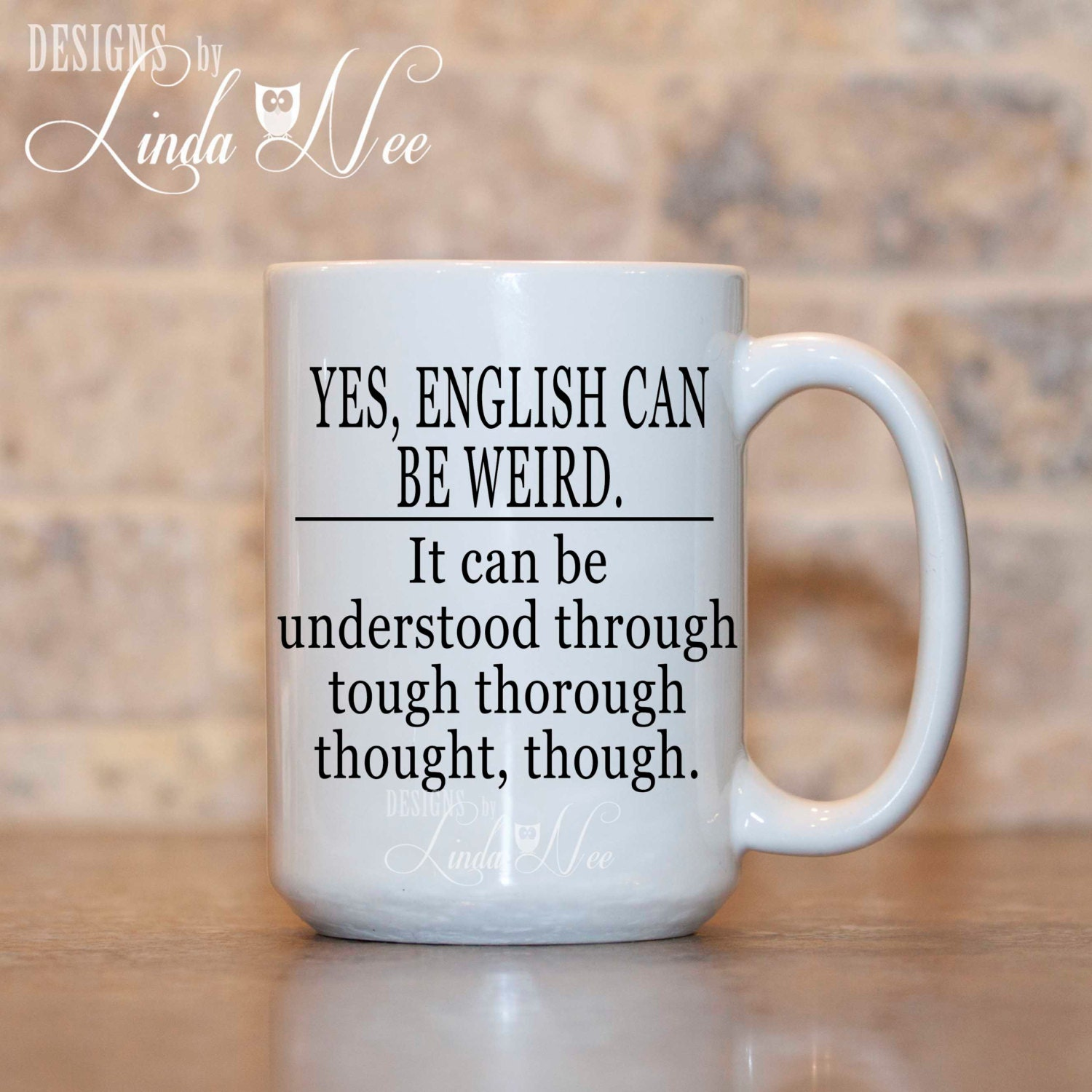 English can be Weird Coffee Mug Grammar Coffee Mug Mugs