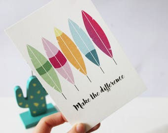 "Postcard ""make the difference"""