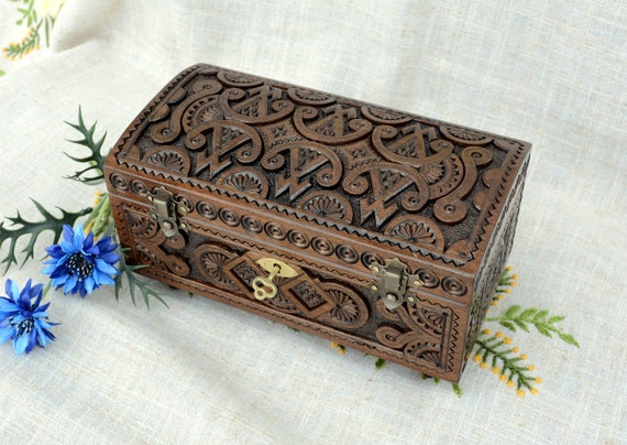 Lock box Jewelry box Wooden box Lock ring box Wooden jewelry