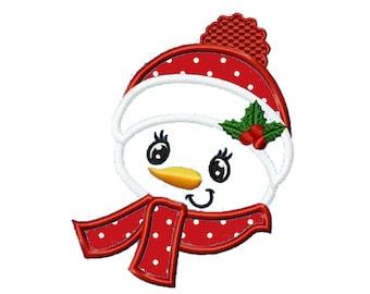 Christmas Snowman...Instant Download... Applique Machine Embroidery DESIGN NO. 717