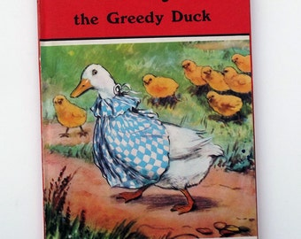 Vintage Children's Story Book - Beaky, the Greedy Duck - excellent vintage condition- Ladybird Book