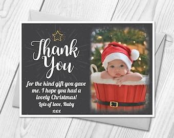 Personalised Christmas Thank You Cards | Festive Xmas Photo Thank You Cards & Envelopes
