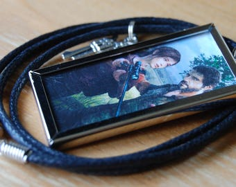 The Last of Us Inspired,Joel & Ellie Necklace,Tibetan Silver Gun Charm