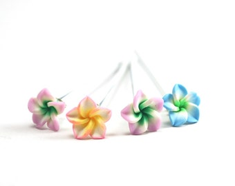Pastel  color  Flower, Wedding Bobby Pin-4 sets