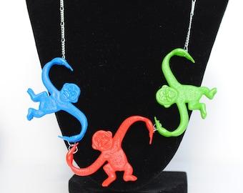 Three Monkey Necklace