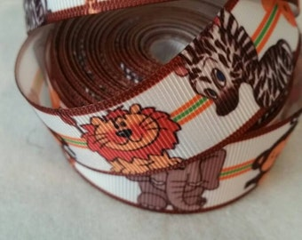 Animal Ribbon | Bow Making Ribbon | Bow Supplies | Grosgrain Bow Ribbon | By The Yard | Grosgrain Ribbon |