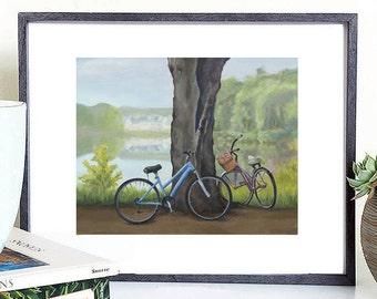 Bicicleta digital pintura arte digital bicicleta, bicicleta para imprimir, pintura bicicleta, Ilustración de bicicleta, bicicleta pared decoración