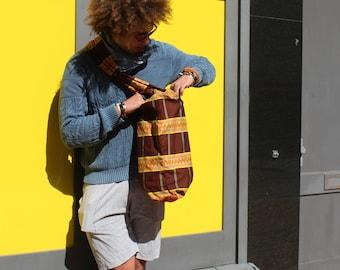 African print Shoulder Bag African Laptop Bag College Shoulder Bag Festival Bag African Bag African Rucksack Drawstring BackPack