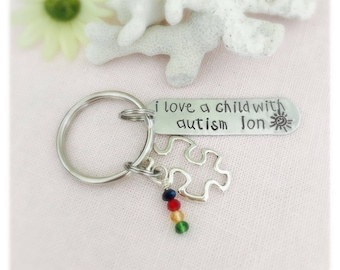 Custom Autism Awareness Keychain