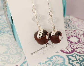 Frosting Filled Chocolate Cupcake Earrings