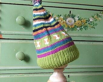 Gifts Under 10, Stocking Stuffer,Adult Snap Dragon Wool Classic Ski Hat Pompom Fair Isle Hat