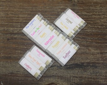 Your Choice Handcrafted Lip Balm, Handmade Lip Balm , Pure & Simple Or Flavored Lip Care , Chapped Lip Care, Flavored Lip Balm, Lip Butter