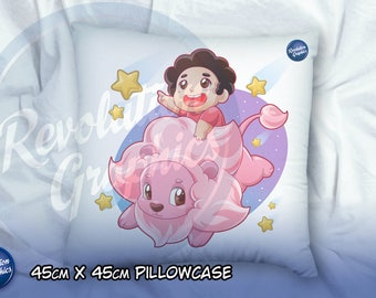 Square pillow case - 45cm x 45 cm - Steven & Lion Steven Universe