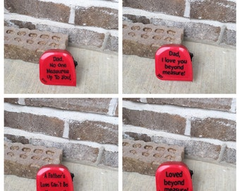 Father's Day Gift Measuring Tape with Saying