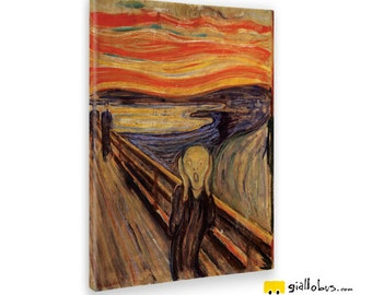 Canvas paintings Canvas-Edvard Munch-The Scream-Yellow BUS