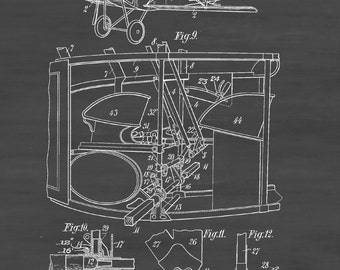 Wright brothers airplane patent vintage aviation art airplane patent 1922 vintage airplane airplane blueprint airplane art pilot gift malvernweather Image collections