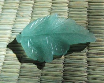 Genuine Natural Gemstone  Leaf Pendant In Your Choice of Stone