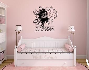 Merveilleux Rta620 Volleyball Player Game Sport Custom Name Persnalized Girls Gift Kids  Children Wall Decal Vinyl Decor