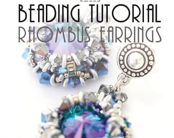 RHOMBUS EARRINGS TUTORIAL / pdf instant tutorial