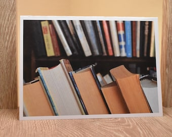 Bookshelf greeting card