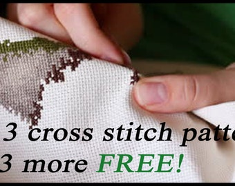 Buy 3 Patterns, Get 3 Free! Six cross stitch patterns of your choice for the price of three