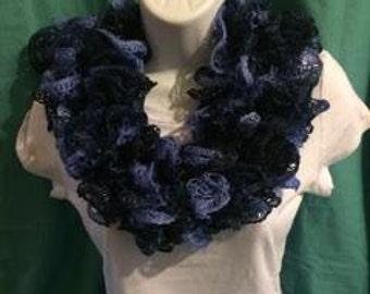 Lace Scarf -Three Shades of Blue