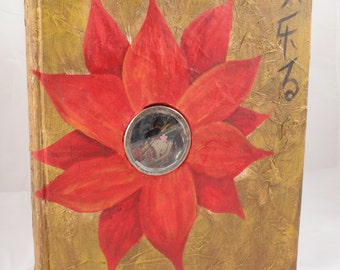 Mother Nature Mixed Media Altered Story Picture Book Sculpture