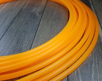 5/8 Polypro:UV Orange Hula Hoop- Made to Order