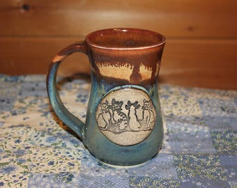 Pottery 4 Happy Cats Mug  ...     Made in Vermont