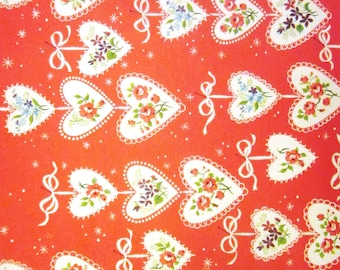 Vintage Wrapping Paper - One Sheet - Valentine Mood Gift Wrap - Norcross