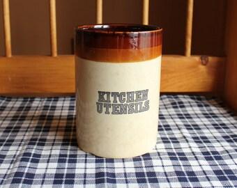 Vintage Ceramic Utensil Canister