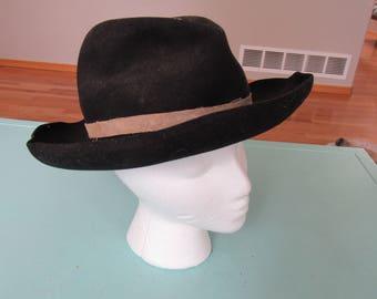 Vintage Felt Cowboy Hat Sz 6 3/4 Free Shipping