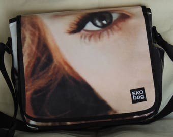Medium Messenger bag, messenger bag for men, man bag, woman bag, recycled, Diaper bag, Crossbody bag, Christmas, 3001004