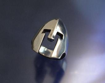 Spartan Warrior Helmet Ring Solid Sterling Silver